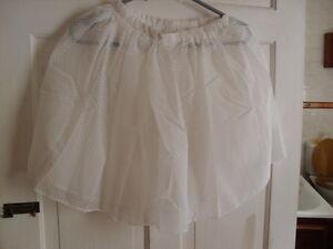 201392b4c BRAND NEW ROCH VALLEY GIRLS BALLET RAD SKIRT WHITE VOILE WITH SPOTS ...