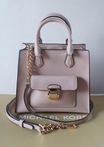 Details about Michael Kors Bridgette Ballet Saffiano Leather Small Messenger Bag