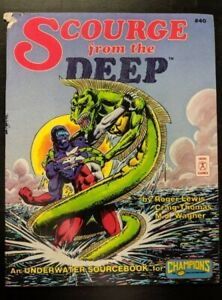 1x-Hero-Games-Champions-Scourge-of-the-Deep-Used-Damaged-RPG-Other
