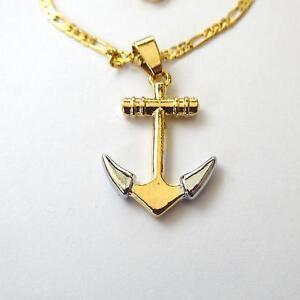 363 AA Para Hombre y Mujer Cadena Collar Tono Oro Con Colgante trinacria