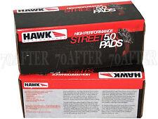 Hawk Street 5.0 Brake Pads (Front & Rear Set) for 92-95 Honda EG Civic Si no ABS