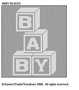 BABY BLOCKS Filet Crochet Pattern
