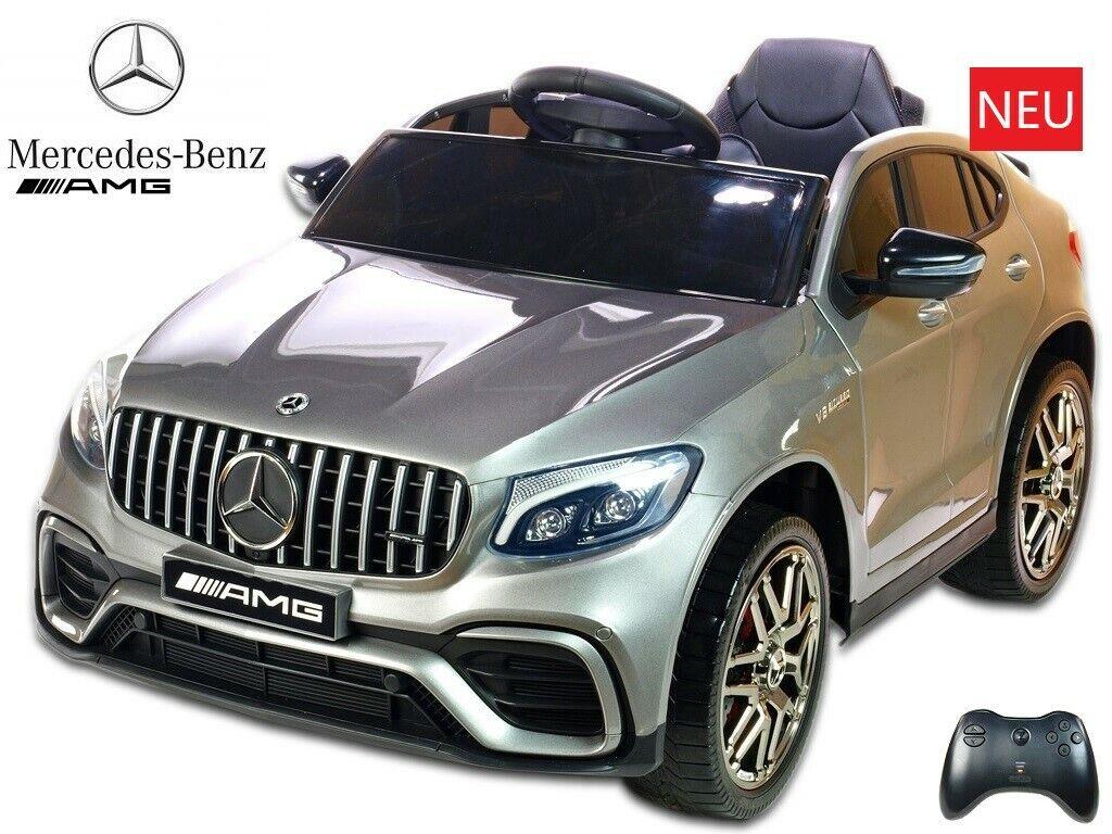 Mercedes AMG GLC63 S - 1 Sitzer - silber lackiert - Kinder Elektroauto
