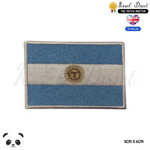 ARGENTINA-National-Flag-Embroidered-Iron-On-Sew-On-Patch-Badge-For-Clothes-etc