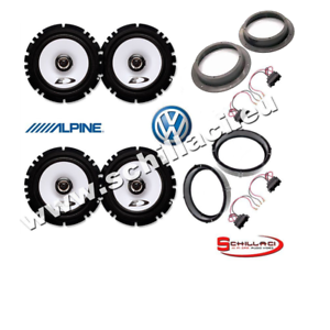 4 Alpine speakers kit for VW Volkswagen Touareg with adapters -2003//-2008
