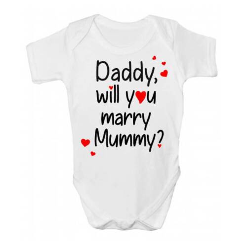 Will You Marry Mummy Proposal Babies Clothing Daddy Baby Grow Bodysuit