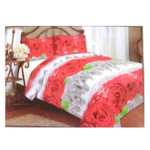 Lenzuola Matrimoniali Con Rose Rosse.Dettagli Su Lenzuola Letto Matrimoniale Camani Digitali 3d Stampa Rose Rosse Sfumato Grigio