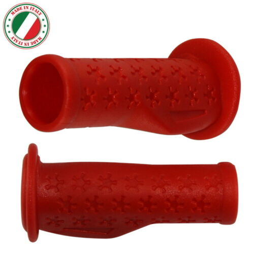 KID CHILDREN BIKE RED HANDLEBAR GRIPS 90mm ERGONOMIC CYCLE CITY ROAD VINTAGE