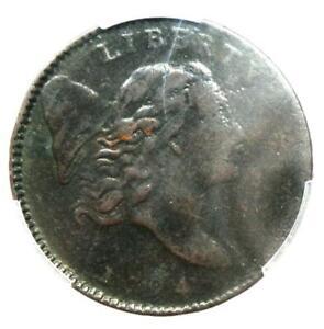 1794 Liberty Cap Flowing Hair Half Cent 1/2C - PCGS VF Detail - Rare Coin!