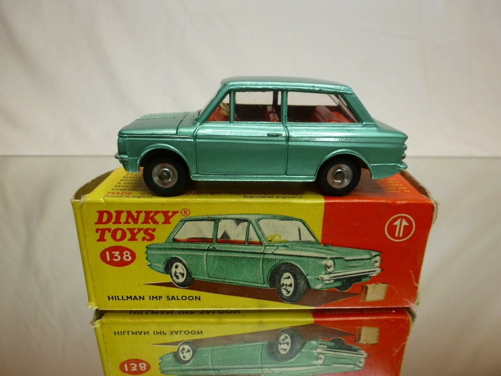 DINKY TOYS -  138 HILLMAN IMP SALOON  - VERY GOOD CONTITION  IN BOX