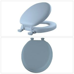 Peachy Details About Toilet Seat Lift Off Cover Soft Round Lid Closed Front Hinges Standard Sky Blue Pdpeps Interior Chair Design Pdpepsorg