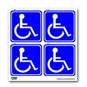 Disabled-Wheelchair-Symbol-BLUE-Set-of-4-Handicapped-Window-Stickers