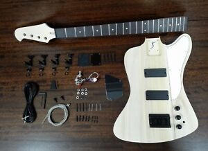 Haze 4-String Complete No-Soldering Electric Bass Guitar DIY+3 Picks | HSTB 1910
