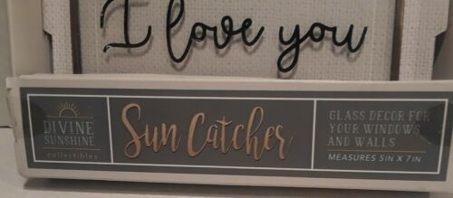 """Divine Sunshine /""""You/'ll never know dear how much I Love You/"""" Glass Sun Catcher"""