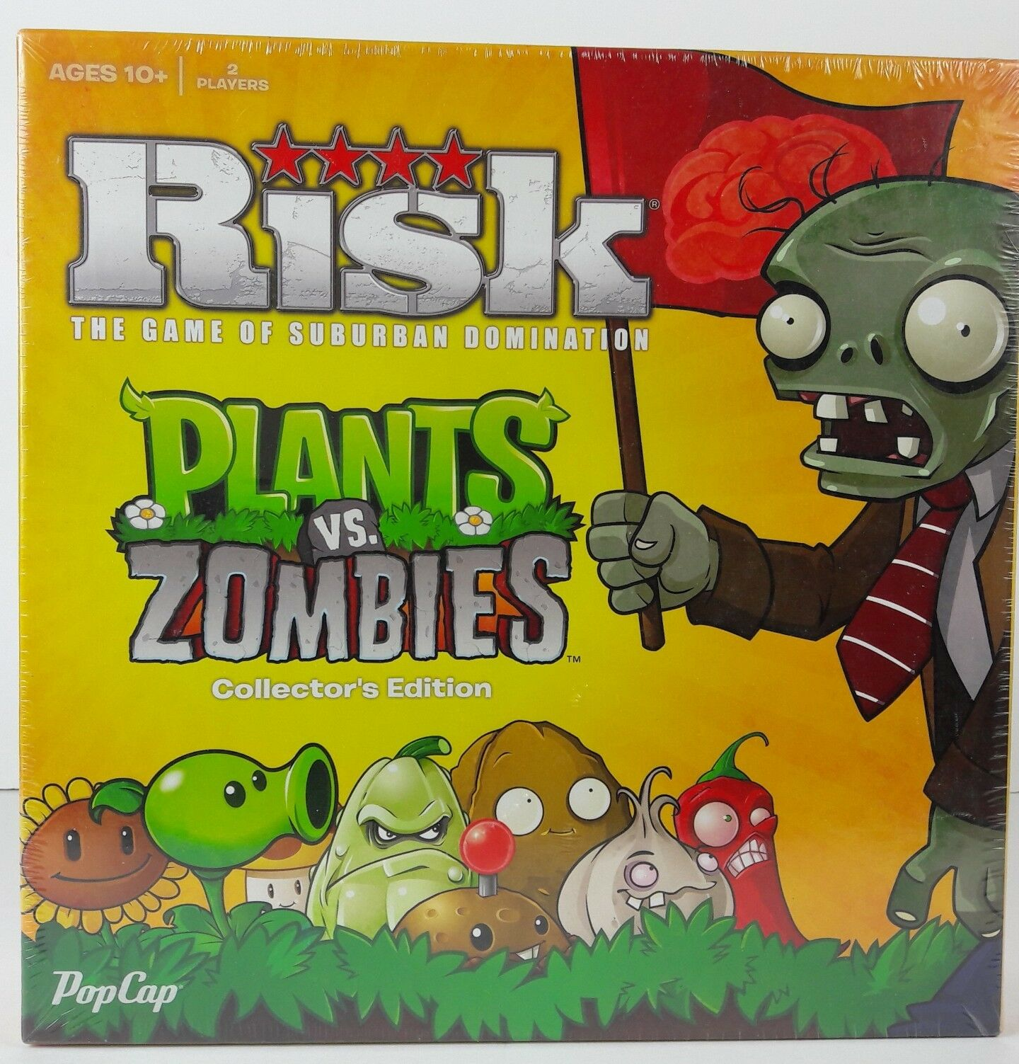 RISK Board Game PLANTS vs ZOMBIES Collectors Edition New Sealed