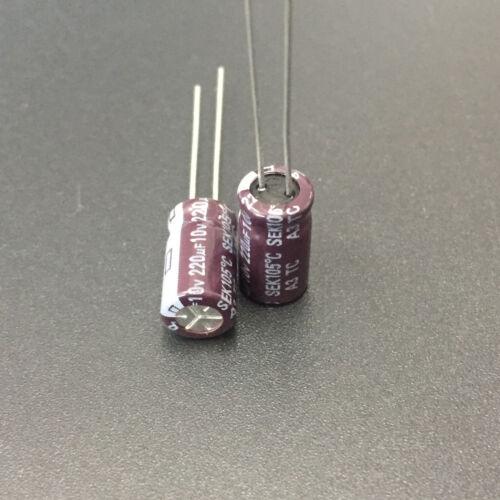 10pcs 220uF 10V 6.3x11mm TEAPO SEK 10V220uF Aluminum Electrolytic capacitor