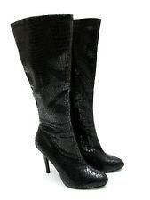size 7 White House/Black Market Metro Black Heel Knee High Boots Womens Shoes