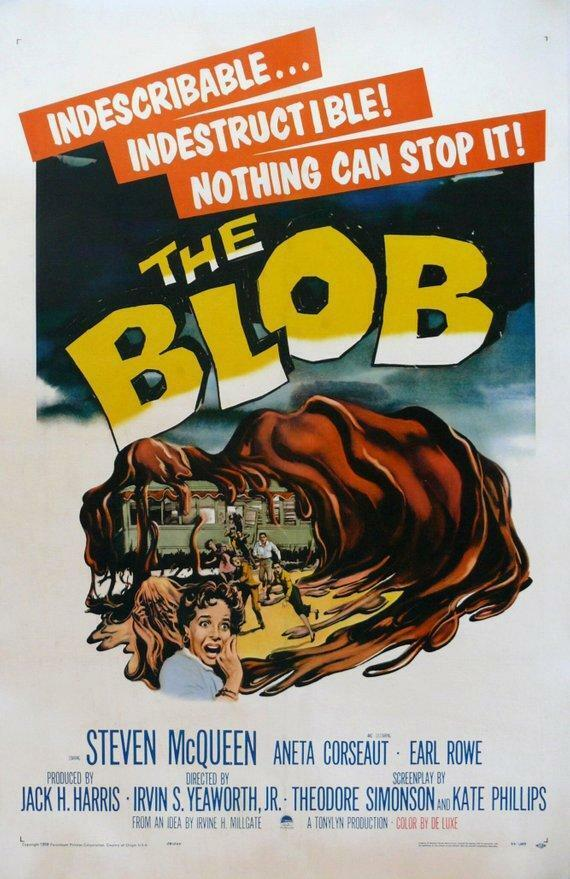 jahrgang The Blob Movie Poster  Classic Movie Poster Movie Poster  Poster Redrucken
