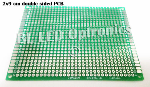 1x FR-4 PCB Printed Circuit Board 7x9 cm for Prototype LED DIY Project