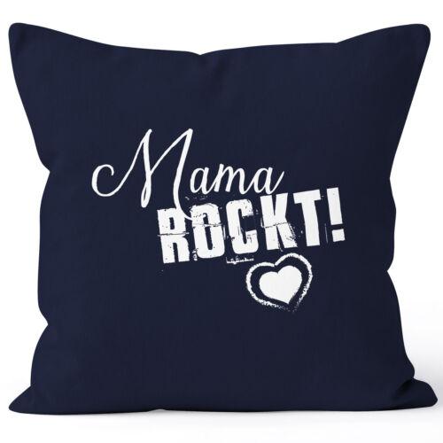 Taie d/'oreiller maman Rock autant Cadeau Pour Mère la fête des mères 40x40 coton moonworks ®