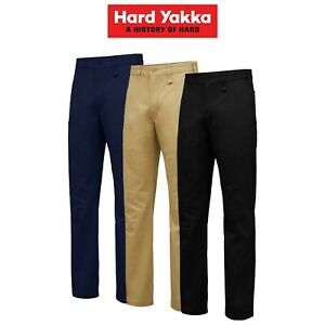 Mens-Hard-Yakka-Core-Basic-Stretch-Cotton-Drill-Work-Pants-Construction-Y02596