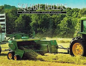 Details about JOHN DEERE 328 338 348 468 SQUARE BALERS SPECIFICATIONS  BROCHURE DKA123 (95-02)
