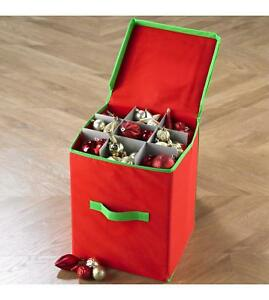 image is loading christmas tree baubles balls decorations storage box tidy