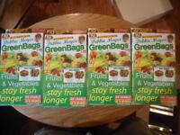 Debbie Meyer Green Bags Reusable Fruit & Vegetable Storage 20 Large & 20 Medium
