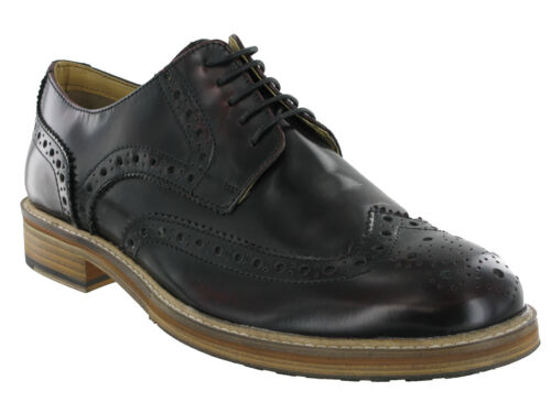 Mens Roamers Ox Blood Leather Brogue Shoes Wing Capped Gibson 5 Eyelet M891bd Kd-Uk 7 (eu 41) i9sGiIJtS