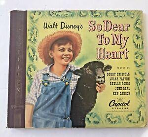 Walt Disney's So Dear to My Heart Box Set 1949 Vtg Capitol Records 78 RPM