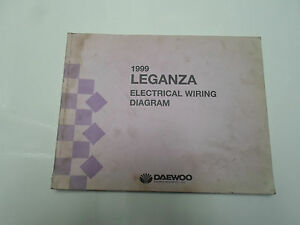 image is loading 1999-daewoo-leganza-electrical-wiring-diagram -manual-factory-