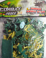 Combat Force Jumbo Army Toy Soldiers Pack Tent, Tanks, Jeeps Fences, Bunkers