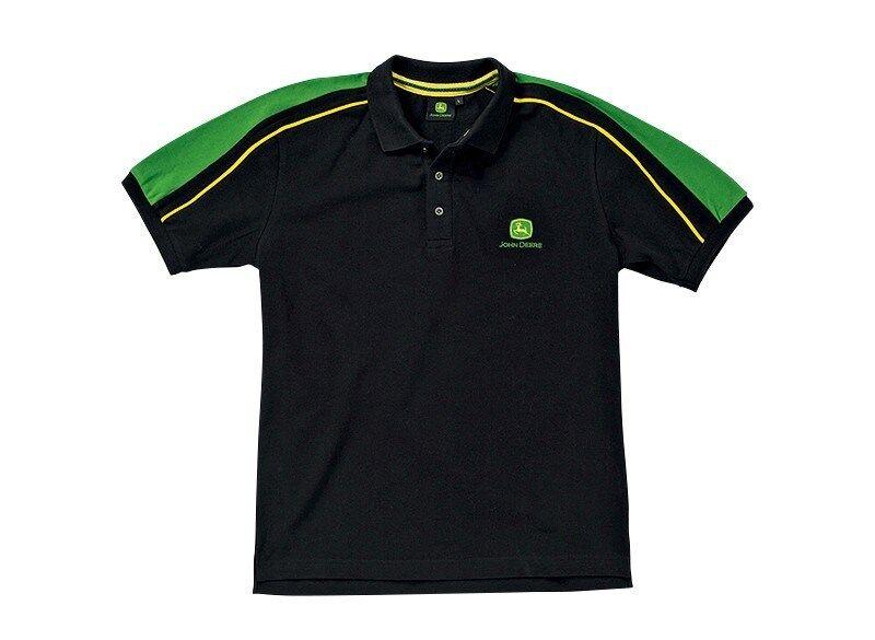 Original Herren Polo-Shirt John Deere, schwarz grün, Gr. L    | Auktion  | Schön und charmant  | Merkwürdige Form