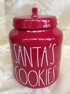 Rae-Dunn-Christmas-By-Magenta-SANTA-039-S-COOKIES-Chubby-Farmhouse-Red-Canister