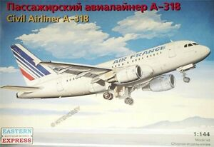 Eastern Express 1/144 Airbus A318 Air France w/CFM engines Civil Airliner