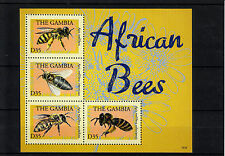 Gambia 2013 MNH African Bees 4v M/S Apis Insects Bee Stamps