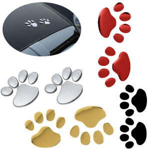 1-Sheet-Car-Sticker-3D-Animal-Paw-Dog-Cat-Bear-Footprint-Decoration-Deacls