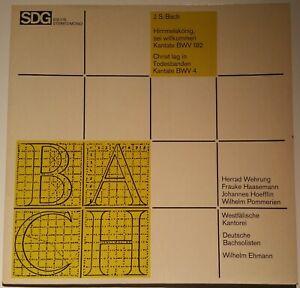 Bach Kantaten BWV 182 & 4 Deutsche Bachsolisten Ehmann SDG Stereo 610 116