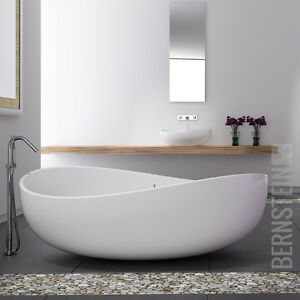 bernstein design badewanne freistehende wanne wave mineralguss waschbecken ebay. Black Bedroom Furniture Sets. Home Design Ideas