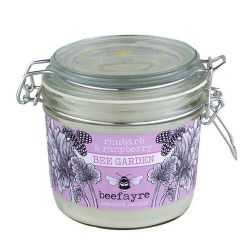 Beefayre Bee Garden-Rhubarbe /& Framboise-Cuisine Candle 350 g//50 h