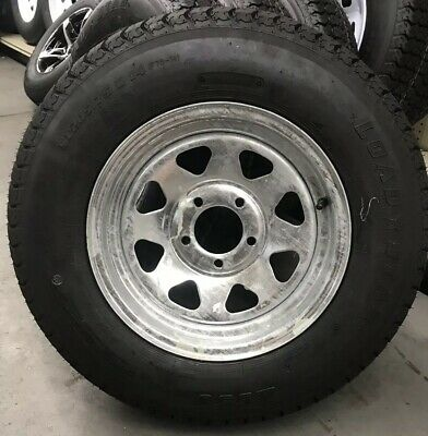 Trailer Tire On Rim ST205//75D14 2057514 F78-14 5 Lug Wheel Spoke Galvanized