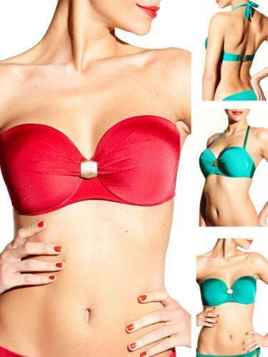 Chantelle Cleopatra Bandeau Bikini Top 6495 Strapless Multiway Underwired Padded