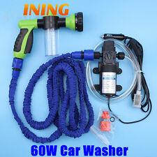 High Pressure Self-priming Electric 12V Car Washer Pump+ Foam Water Gun Nozzle