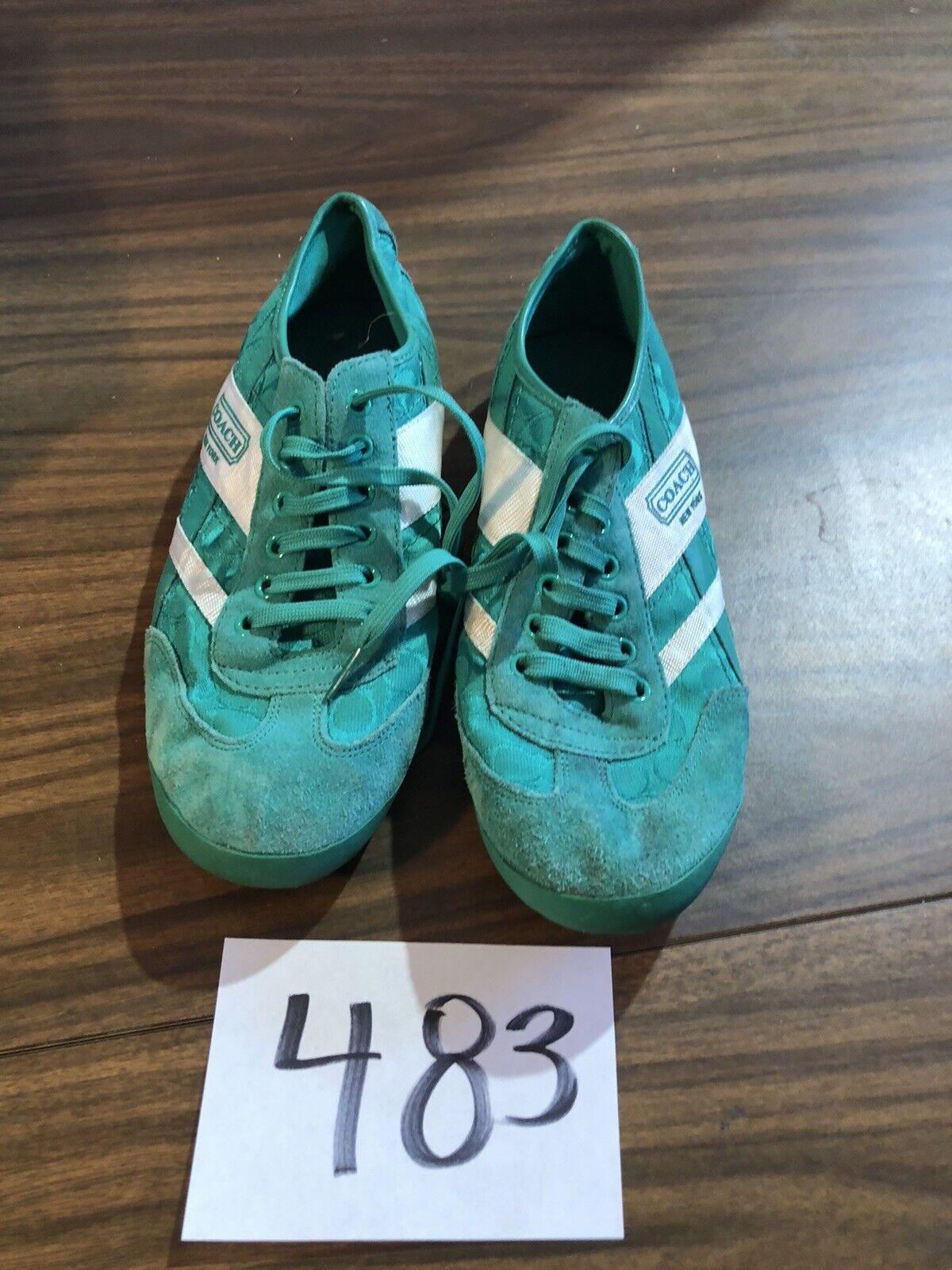 Coach Yolanda Signature Green Foil Sneaker 11