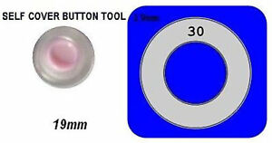 Shank back Self Cover Buttons Tool only 19mm Self Cover Template use with Flat
