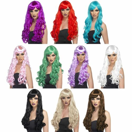 Desire Fancy Dress Wig Long Style Curly with Fringe Mermaid Princess Fancy Dress