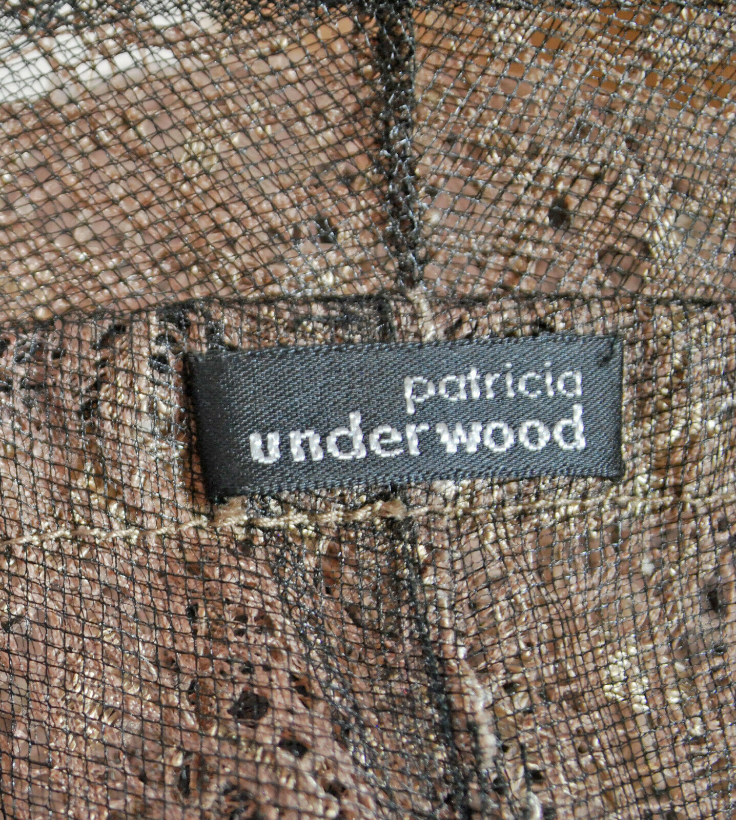 Designer Patricia Underwood Champagne Lace Cloch… - image 8
