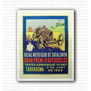 1948 GRAN PREMIO SANREMO AUTODROMO DI OSPEDALETTI CAR RACE VINTAGE POSTER REPRO