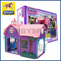 Breyer Horse Crazy Barn With Horse Toy Play Set 1:32 Stablemates