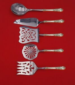 American-Victorian-by-Lunt-Sterling-Silver-Brunch-Serving-Set-5pc-Custom-Made